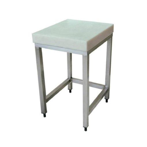 snijplank met rvs tafel
